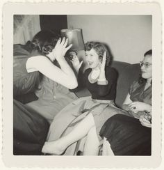 """""""Happy at party moment,"""" unknown artist, early Gift of Sharon and Michael Blasgen and Michael Wilson. Michael Wilson, Getty Museum, Gelatin Silver Print, All Smiles, 1960s, Happiness, In This Moment, Cheese, History"""