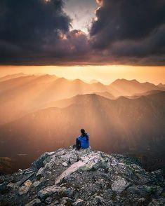 Sunset in the Tatra Mountains, Poland, by Karol Nienartowicz. High Tatras, Tatra Mountains, G Adventures, Mountaineering, Land Scape, Wilderness, Climbing, Mount Everest, Earth