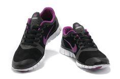8844db07e16b Womens Nike Free 3.0 V2 Suede Black Pink  Black  Womens  Sneakers.  LilaSchwarz ...