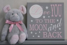 Love You To The Moon and Back Moon and Star Wall by NelsonsGifts