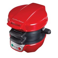 Hamilton Beach 25476 Breakfast Electric Sandwich Maker Red -- You can get more details by clicking on the image. (This is an affiliate link and I receive a commission for the sales) Specialty Appliances, Small Appliances, Home Appliances, Gourmet Sandwiches, Panini Sandwiches, Sandwich Recipes, Austin Mahone, Toaster, Breakfast Sandwich Maker