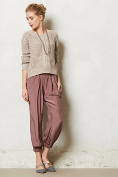 cinched silk trouser