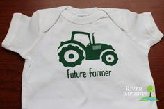 Baby FUTURE FARMER TRACTOR boy or girl short by RiverImprints, $12.00
