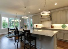 Custom Cabinets, Granite countertops, luxury appliances, 36 inch wolf cooktop