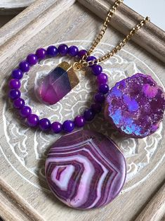 4th Chakra Eye Anahata Heart Charm /& Fluorite Stone Point Necklace