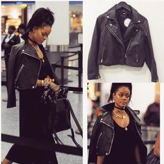 Look slick in leather like RiRi  Amelia Jacket
