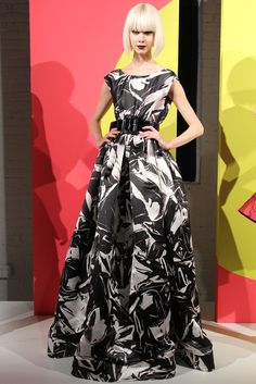 Alice + Olivia --- lovely, lovely print on that gown. Beautiful!
