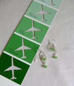 Free-formed bent silver Artistic Wire earrings by PlaneNSimple