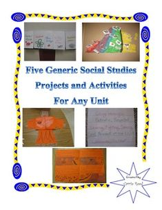 5 Generic Social Studies Projects for Any Upper Elementary Unit! These projects work for any social studies unit and can meet any curriculum! Reuse project templates for future lessons and units! $