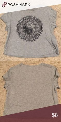 H&M Crop Top Cute grey crop top, good condition! Willing to take offers. H&M Tops Crop Tops