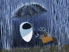 Asleep in the Rain - Wall-e - Disney