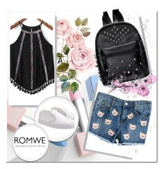 """""""4#Romwe"""" by fatimka-becirovic ❤ liked on Polyvore featuring Sephora Collection and Karlsson"""