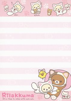 "San-X Rilakkuma ""Cat"" Memo (Pink)"