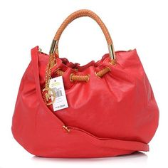 Michael Kors Quilted Flap Large Red Drawstring Bags  $67.99