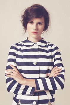 Stripes + Peter Pan collar, yes please!