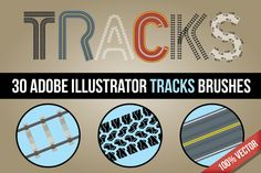 Tracks Brushes @creativework247