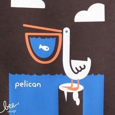 pelican limited edition print by beethings on Etsy, $25.00 I HEART pelicans, I need this.