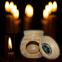 An economical and effective way of burning or heating essential oils and powdered incense. Hand-crafted in Western Australian from local clay. Smudge Sticks, Incense Burner, Smudging, Essential Oils, Essentials, Clay, Candles, Ceramics, Handmade