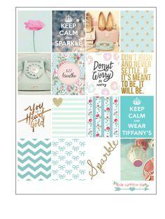 Mint Love Stikers For Erin Condren by LittleSurpriseShop on Etsy