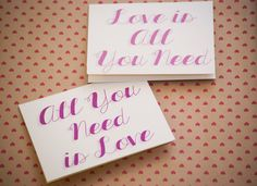 All You Need Is Love Duo Cards-Set of Six