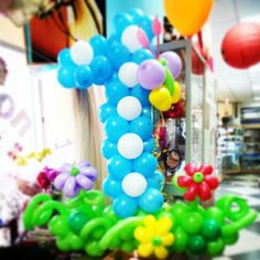 Цифра из шаров. The number made of baloons