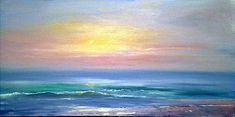 """Thank you for interest in my artwork Original Contemporary Modern fine Art by AIDA Paintings name:PEACEFULNESS Size: 24x48x0.75"""" Gallery Canvas Medium: OIL on gallery-wrapped stretched canvas The painting was painted on a staples free canvas. It is ready to hang.no frame needed"""
