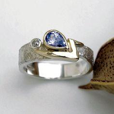 Tanzanite and diamond gold and silver