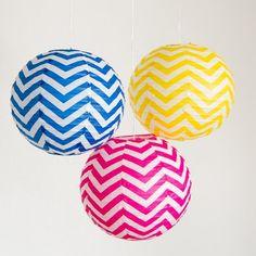 Decorations - Chevron Paper Lanterns by Beau-coup (($))