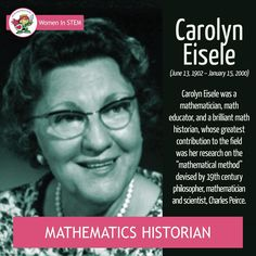 """SRPS Women in STEM: Carolyn Eisele - mathematics historian 