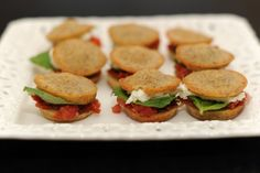 Delicious tomato sliders inspired by Blue Hills Stone Farm in New York.
