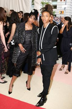 Pin for Later: The 1 Designer Who Completely Took Over the Met Gala Red Carpet Jaden Smith Wearing a total Louis Vuitton look.