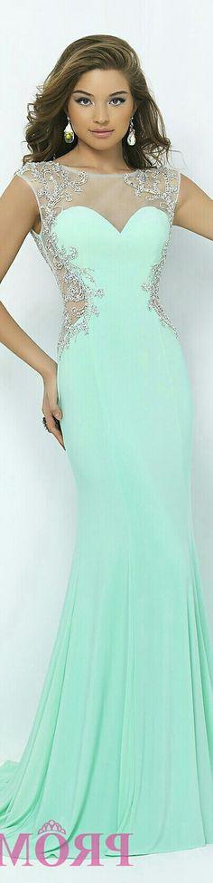 Mint Green Mermaid-Style Gown x wanelo.com & PromGirl #BL9942