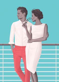 Summer Cruise - Illustration by Jack Hughes