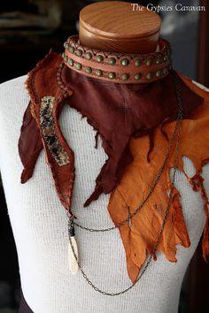 Fragments of Time Leather rich brown deer by thegypsiescaravan