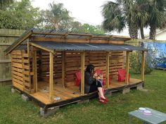 Wooden Pallet Playhouse for Kids