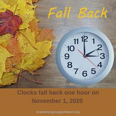 Friendly reminder: clocks fall back on November 1, 2020 ⏲️🍂 #empoweryourbrain #fallback #DaylightSavingTime #reminder #SundayMorning