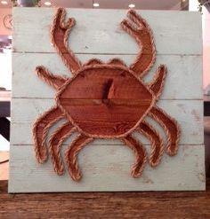 """Sea Glass Crab 23"""" x 22"""""""