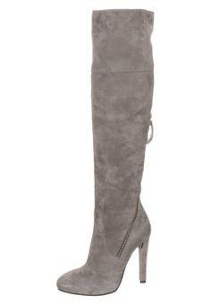 Stivali con plateau - grigio