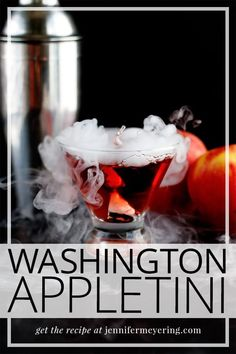A little twist on a classic washington apple cocktail... with added dry ice for a spooky, smokey effect. Easy Drink Recipes, Best Cocktail Recipes, Punch Recipes, Top Recipes, Light Recipes, Snack Recipes, Dessert Recipes, Cooking Recipes, Desserts