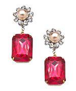 John Wind Maximal Art Ruby And Pearl Heirloom Earrings
