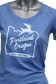 Hey, I found this really awesome Etsy listing at https://www.etsy.com/listing/101709528/womens-fitted-portland-oregon-wild-and