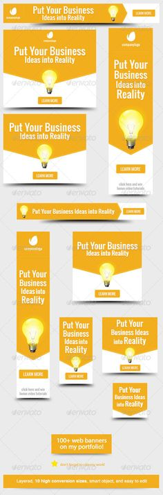 PUT YOUR BUSINESS IDEAS INTO REALITY -  Business Idea Web Banner Design