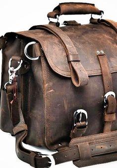 Large Leather Travel Bag. First generation saddleback