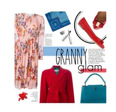 """""""Granny Glam"""" by federica-m ❤ liked on Polyvore featuring Salvatore Ferragamo, Stila, Louis Vuitton, Jean-Paul Gaultier, MSGM, Chanel, Bobbi Brown Cosmetics and grannyflats"""