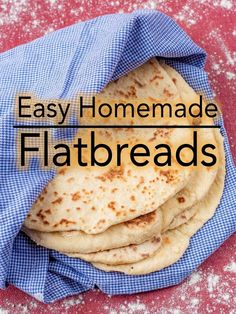 These soft, slightly charred and yeast free Easy Homemade Flatbreads couldn't be simpler. These are quick flatbreads to make for any occasion.  #flatbread #quickbread #easybread #homemade  via @hhhdannii