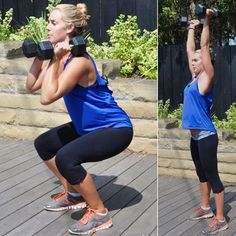 I'm so doing this starting with tomorrow morning's work out!  Great for beginners - start program without weights and as it becomes easier, add the dumbells!  Combine your strength and cardio sessions to see faster results and spend less time in the gym
