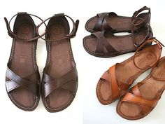 EDER SHOES--the quintessential flat sandal. Made in Italy. Hard to find in the US. They are beautiful.
