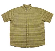 Carhartt Blue/Yellow Plaid Button Down Shirt Mens Size Large ...