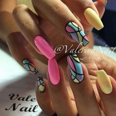 ☺ nails nails, summer nails и gel nail art. Fancy Nails, Trendy Nails, Love Nails, How To Do Nails, Best Nail Art Designs, Gel Nail Designs, Nails Design, Spring Nails, Summer Nails