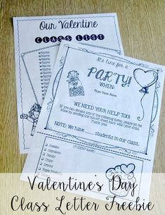 FREE Valentine's Day Class Letter that you can edit with your students' names,